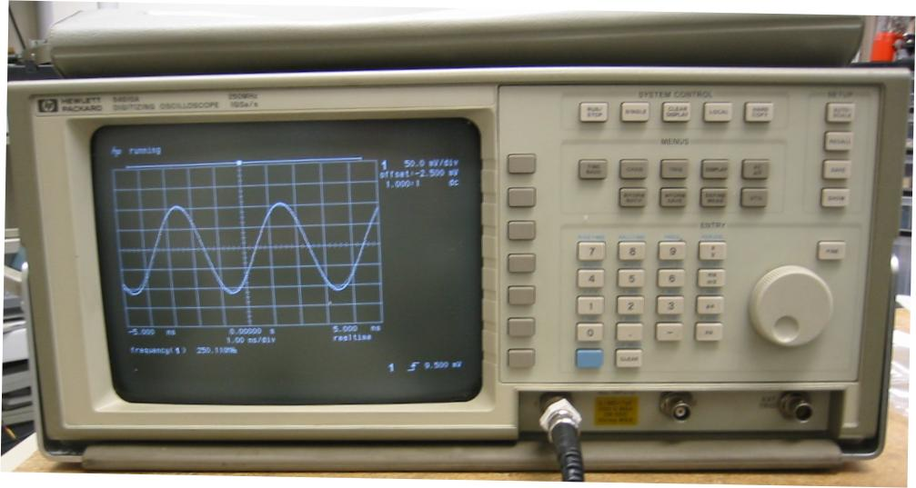 Hp Digital Oscilloscope : Tektronix oscilloscope hp digital storage